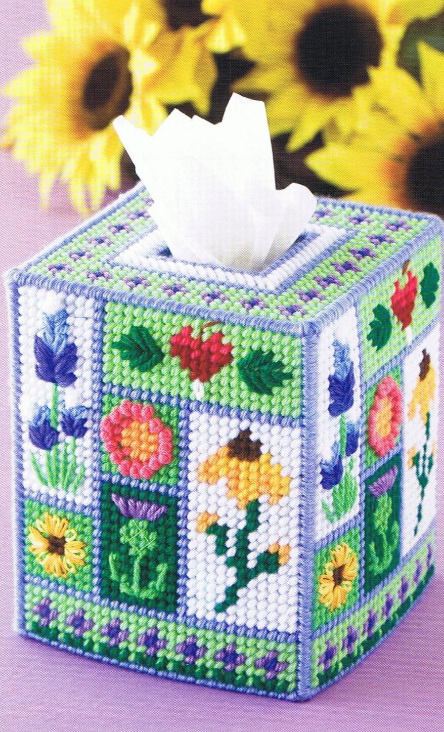 Wildflowers Amp Slice Of Watermelon Plastic Canvas Tissue