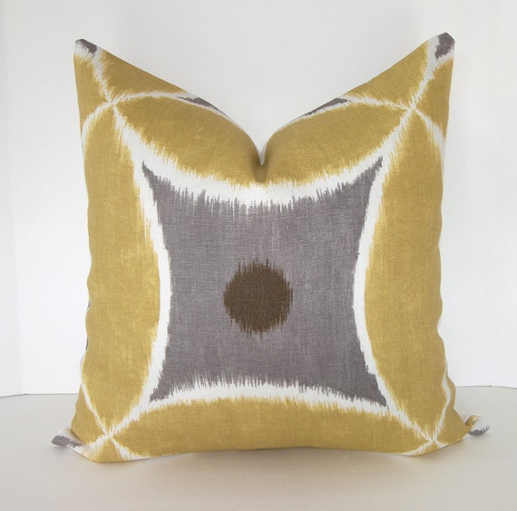 Decorative Pillow Cover 18x18 20x20 or 22x22 inches Ikat