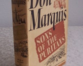 Sons of the Puritans by Don Marquis First Edition 1939
