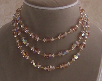 Three Strand Cocoa Crystal Choker