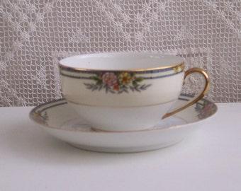 Noritake Floral Tea Cup & Saucer