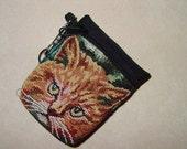 Cat Kitty Tapestry Belt Pack/Key Chain Combo