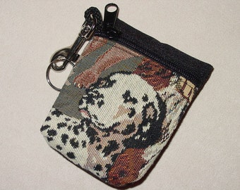 Dog Tapestry Dalmatian Dog Belt Pack/Key Chain Combo