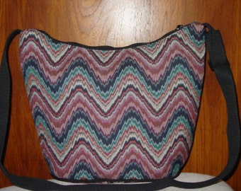 Multi Colors Wave  Classic Shoulder  Tapestry  Purse