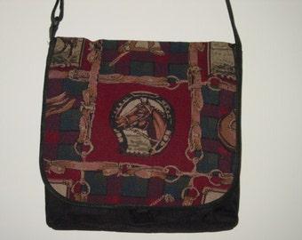Winner's Circle Horse   Tapestry Messenger Bag Equestrian Gifts,Horse Gifts,Equestrian Handbag