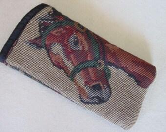 Equestrian Tapestry Horse  Eyeglass/Sunglass Cases