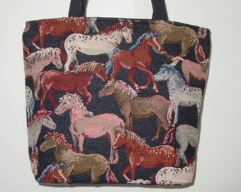 Horse Tapestry All Over Tote Bag and  Purse
