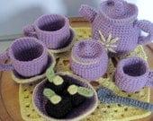 Crochet Lavender Tea Set