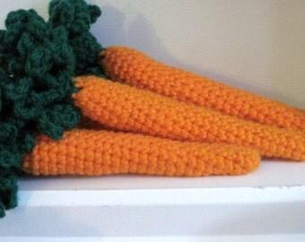 Crochet Pretend Play Carrot-Set of 2