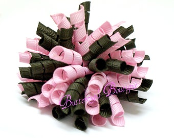 """3"""" Korker in light pink and chocolate brown"""