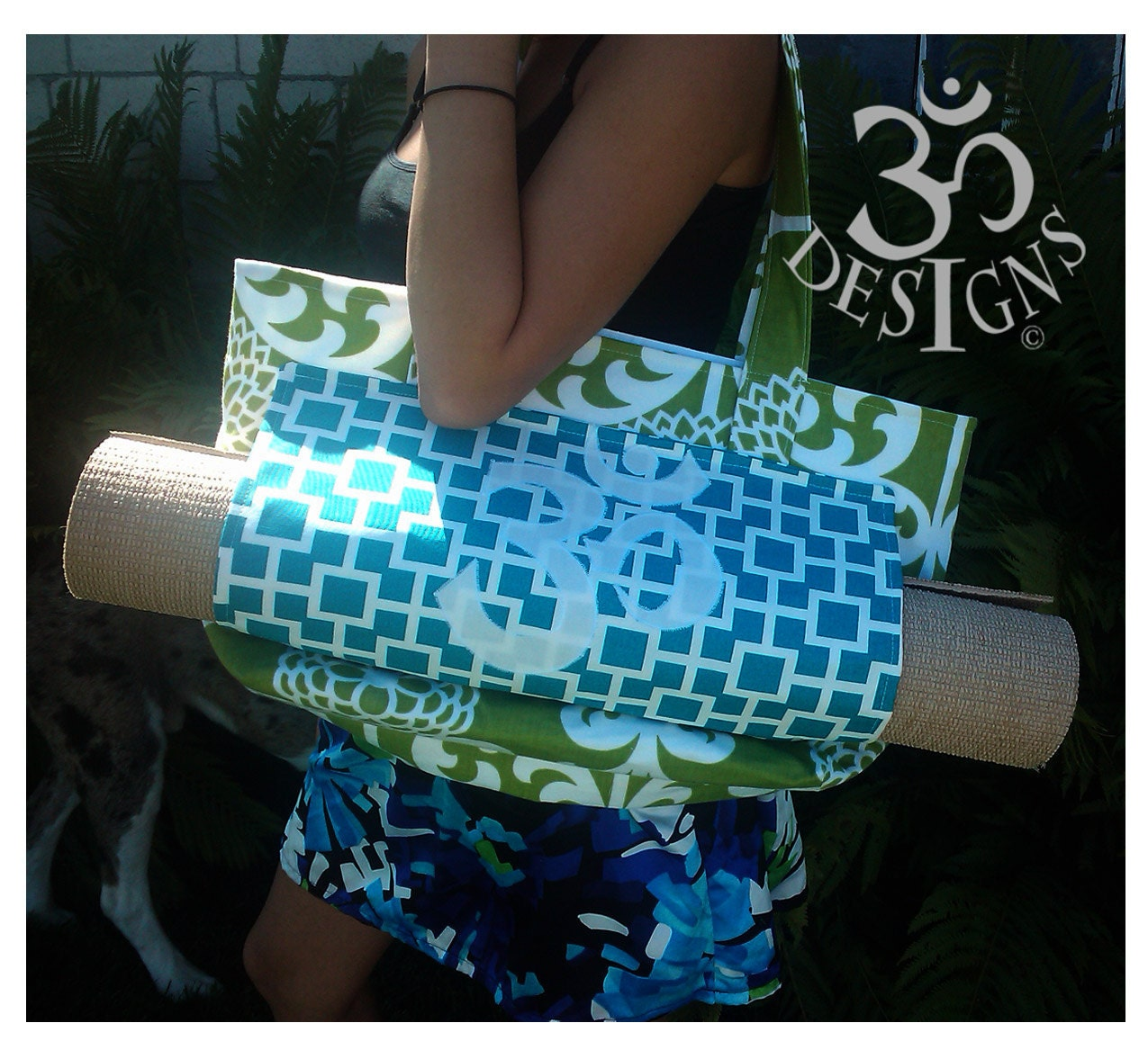 Namaste Designs Yoga Tote Bag And Yoga Strap Pattern By