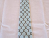 Boys Tie in Blue and Slate Dot