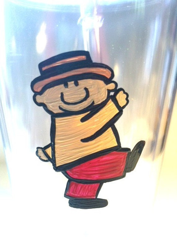 Custom Listing for snooter09 Hand Painted Reusable BPA Free Tumbler- Teeny Little Super Guy