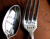 Wanna Spoon - Wanna Fork (TM) - Organically Upcycled Vintage Silverware by Sycamore Hill