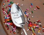 Personalized Ice Cream Spoon - CUSTOM Upcycled Vintage Tablespoon by Sycamore Hill