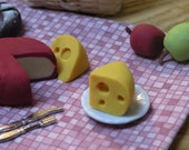 Miniature Cheese for dollhouse display  decoration