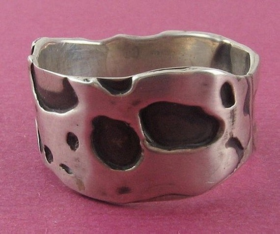 HERMINE MILCH Sterling Silver Modernist Mid-Century Band Ring