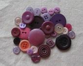 Vintage Button Mix - Purple 2