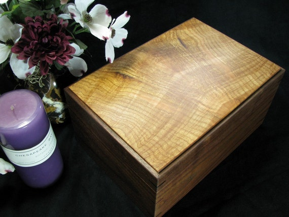 Keepsake Box made of Walnut with Figured Maple Top.