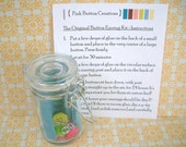 DIY Button Earring Kit - Dangle Earrings - Make Your Own - Pink, Yellow, Green Buttons - Everything Included