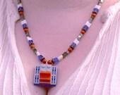 Patriots minifig necklace
