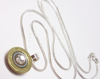 Bullet Necklace, 410 Gauge Thin Winchester Brass Shotgun Shell Bullet Necklace, 410 Necklace, Bullet Jewelry, Custom, Custom Necklace