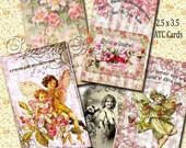 Digital Gift Tags Vintage Printable ATC  Gift Tags- Printable  - Digital Collage Sheet - Digital Scrapbooking