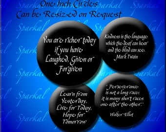 Inspirational Quotes Circle Images Black circle images Digital Collage Sheet 144