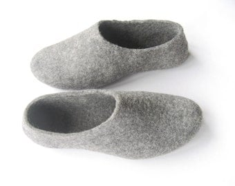 Yellow Felted Slippers Wool Shoes Minimalist Shoes House