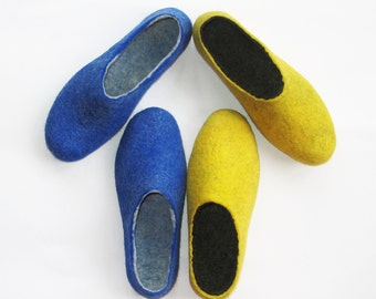 Felted Slippers Set Womens Wool Slippers Custom Color Soft Super Comfort Case Cold Feet