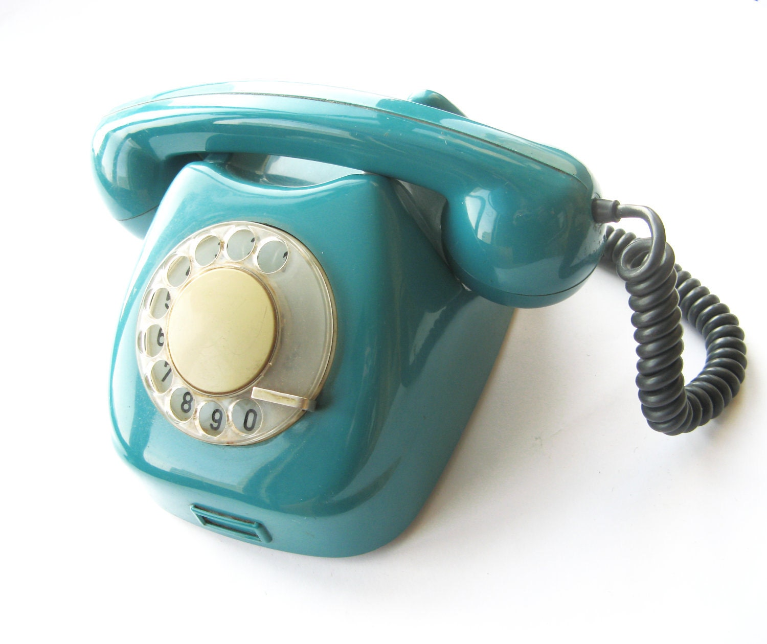 Retro Phone Rotary Turquoise Vintage Collect Soviet 1971