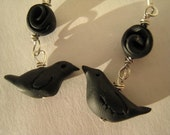 Blackbird Singing in the Dead of Night Earrings