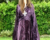 Great upcycled velvet dress medieval, renaissance,gothic, long, acting, one size Christmas Sale