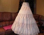 Upcycled vintage style long skirt, folk, boho, hippy chic,belly dance, one size
