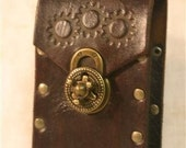 Leather Steampunk Cellphone Smartphone Case / Holster
