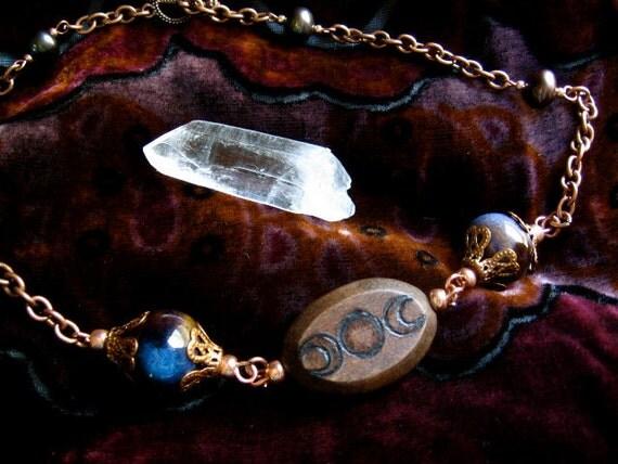 SALE- Triple Goddess Necklace