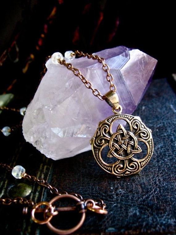 RESERVED for Angeline- Celtic Triquetra Shield Necklace