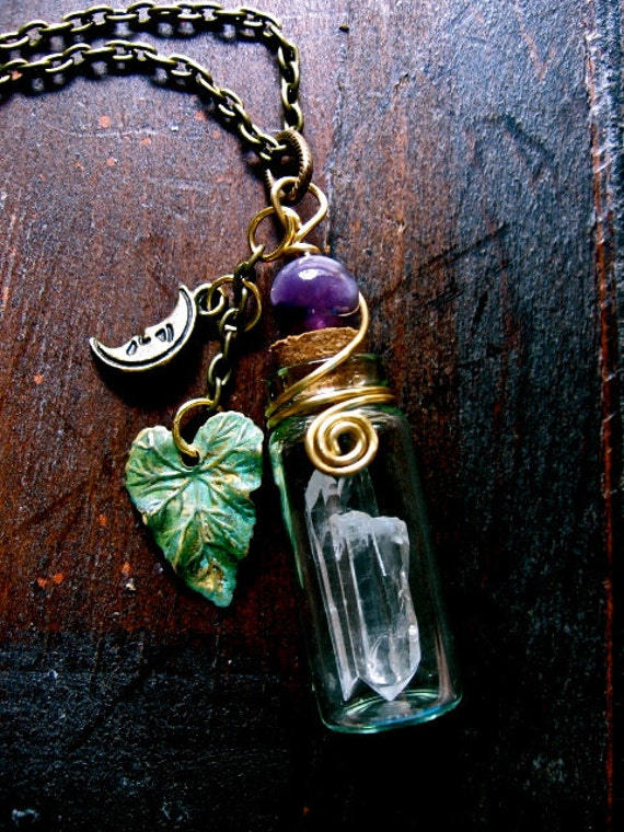 Magical Faery Stones- Triple Quartz necklace