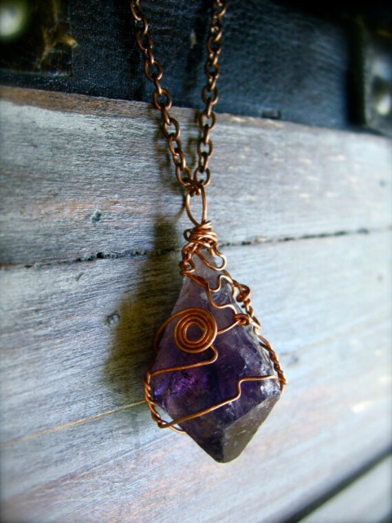 Amethyst Amulet Necklace