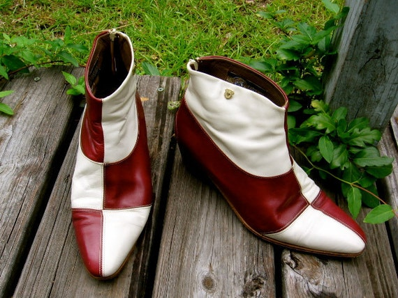 Foti Italian Made Leather Mens Ankle Boots- size 8