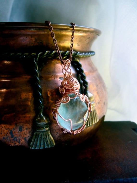 Blue Moon- Fluorite Amulet