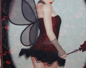 3D Sexy Cheeky Gothic Fairy birthday for guy