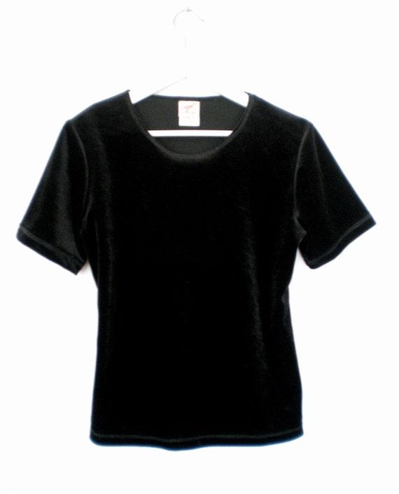 90's velvet blouse size  - S