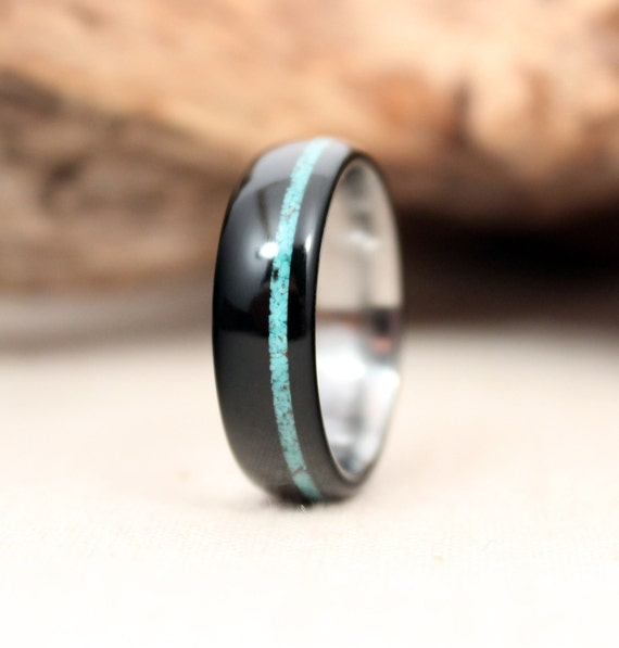 CUSTOM- African Blackwood With Turquoise Inlay