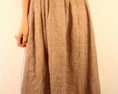Nubby Linen Skirt