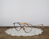 antique wire glasses with rusty old tin case