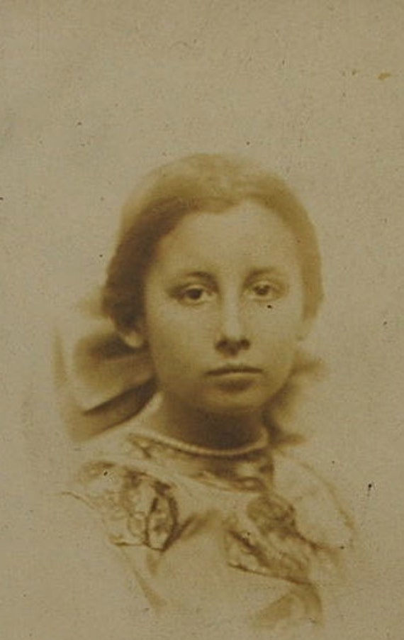Iowa Girl, Matted, 1900's, Vintage Real Photo, Collectible, 1920s Photography, Antique Photo