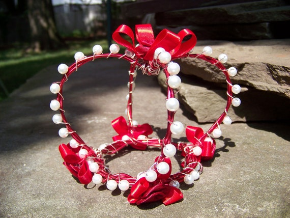 Painting The Roses Red - Red and White Lolita Mini Crown