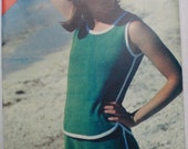 Vintage Misses Tank Top and Shorts Pattern - Butterick See & Sew 3093 - Sizes 14-16-18
