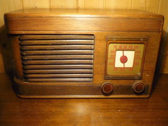 Vintage Admiral Tube Radio, UNRESTORED, ON SALE